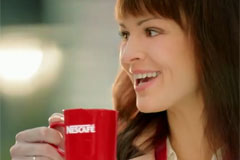 Первое правило утра - реклама от Nescafé