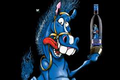 И лошади здесь синие