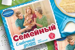 """Редизайн упаковки вафельных тортов """"Семейный"""""""