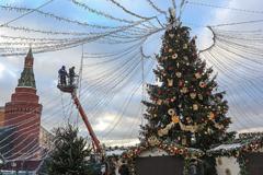 Как украсили Москву к новогодним праздникам