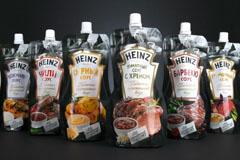 Новый дизайн готовых соусов Heinz
