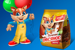 """Новый дизайн упаковки для овсяного печенья компании """"Кондитерское предприятие """"Полет"""""""