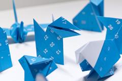 Дизайн календаря для оригами