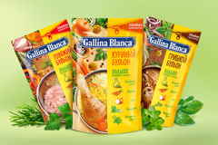 Новый дизайн упаковки для рассыпчатых бульонов Gallina Blanca