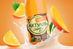 """Брендинговое агентство Wellhead разработало новый дизайн упаковки сывороточного напитка """"Актуаль"""" компании DANONE"""