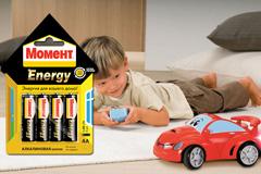 "Рекламная группа ""МЕТРОПОЛИЯ"" создала дизайн батареек ""Момент Energy"""