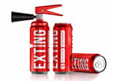 Exting - энергетический напиток в форме огнетушителя