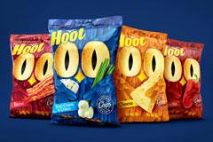 Hoot! Совы и чипсы в новой торговой марке от Fabula Branding и Global Snack