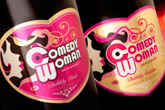 "Madison TMB разработали дизайн этикетки игристого винного напитка ""Comedy Woman"""