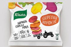 Дизайн упаковки новинки Knorr - Хрустящие снэки