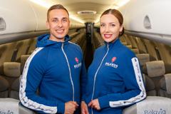 """Бортпроводники """"Белавиа"""" сменили форму на спортивный костюм от Mark Formelle"""