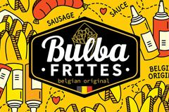 """Новый облик стритфуд-сети Bulba Frites: """"вкусные"""" фото, лаконичные скетчи и бельгийский флаг"""
