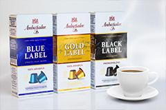 Дизайн упаковки линейки кофейных капсул AMBASSADOR