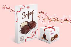 """Style You: дизайн подарочных упаковок для зефира и чернослива в шоколаде от кондитерской фабрики """"Услада"""""""