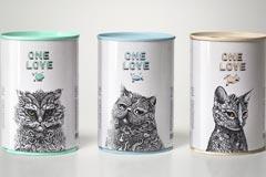 Кошачьи метаморфозы на упаковках One Love