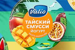 Дизайн упаковки йогуртов Valio Смусси