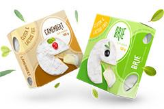 Дизайн упаковок для мягких сыров бри и камамбер