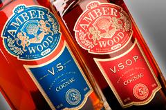 """Комплексный редизайн коньячного бренда """"Amber Wood"""""""