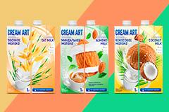Style You: Дизайн для серии упаковок растительного молока CREAM ART